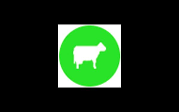 Eine Animation eines Rindes
