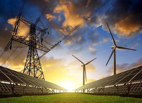Solaranlagen, Windkraftanlagen und Stromnetzte