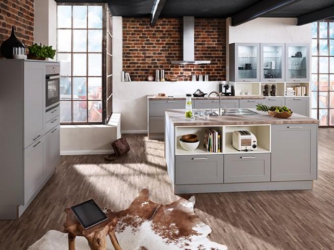 küche mit vielen zubehörteilen, küchen in lingen, toaster, waschbecken