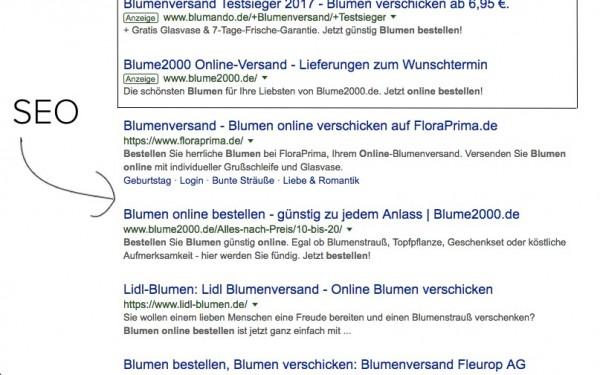 SEO: Webseiten ranken in den organischen Suchergebnissen